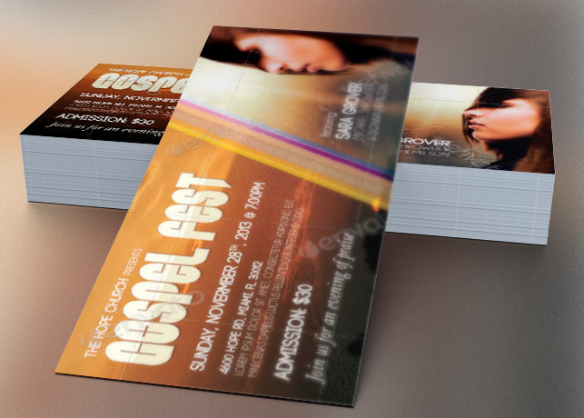 Gospel Fest Concert Flyer Template