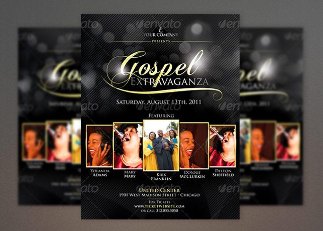 Elegant Gospel Flyer Template