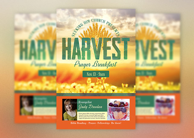 Harvest Prayer Breakfast Flyer Template