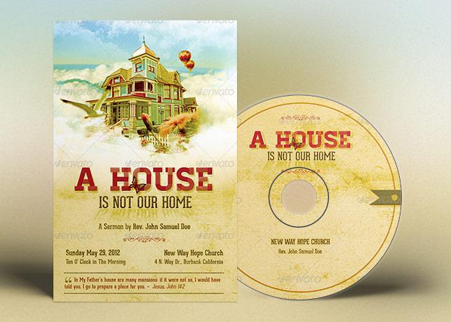 Home Church Flyer CD Template