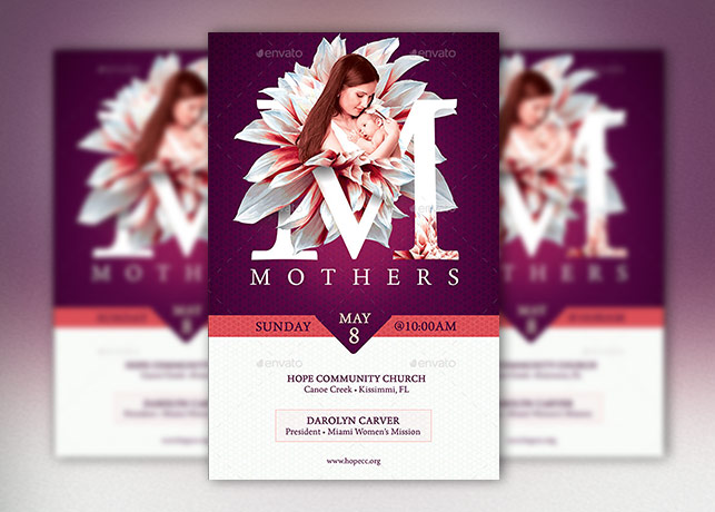 Mothers Church Flyer Poster Template