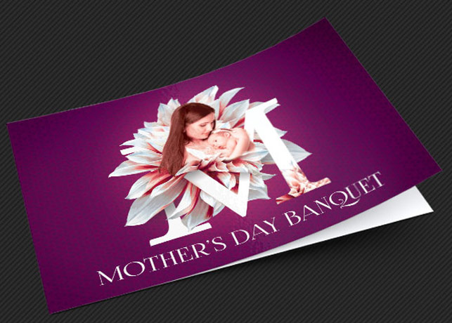Mothers Day Banquet Invitation Photoshop Template