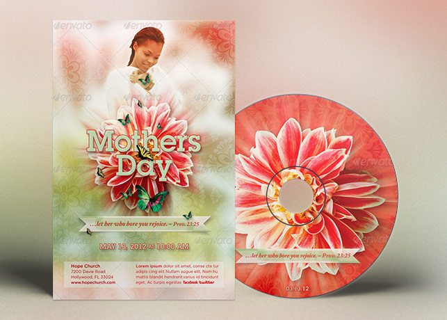 Mothers Day Church Flyer CD Template