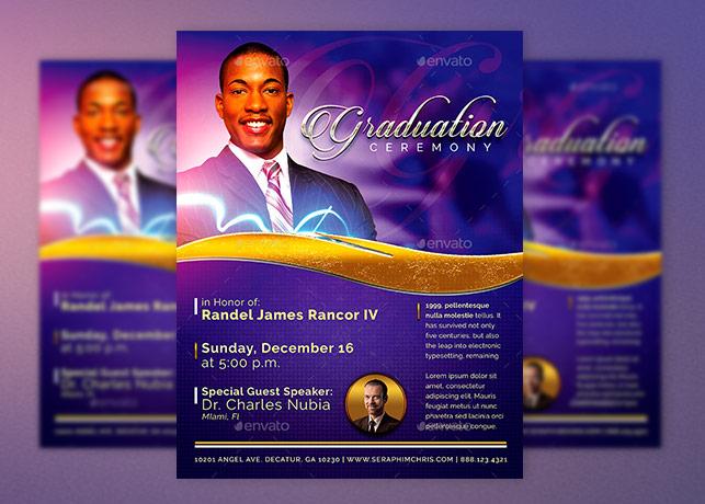 Pastors Graduation Ceremony Flyer Template