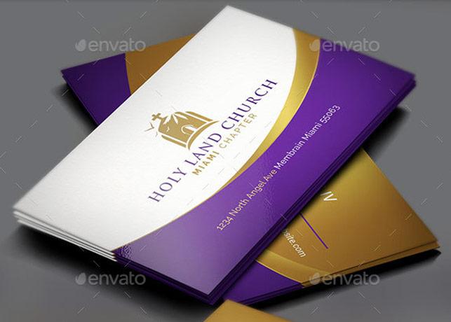 Royal Church Business Card Template