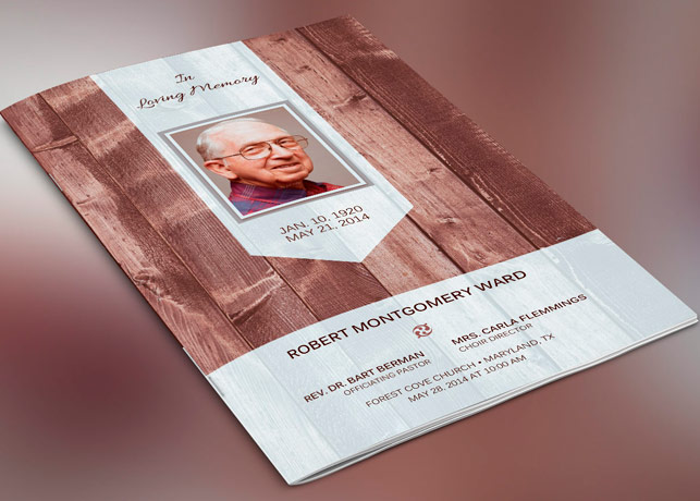 Scape Funeral Program Publisher Template
