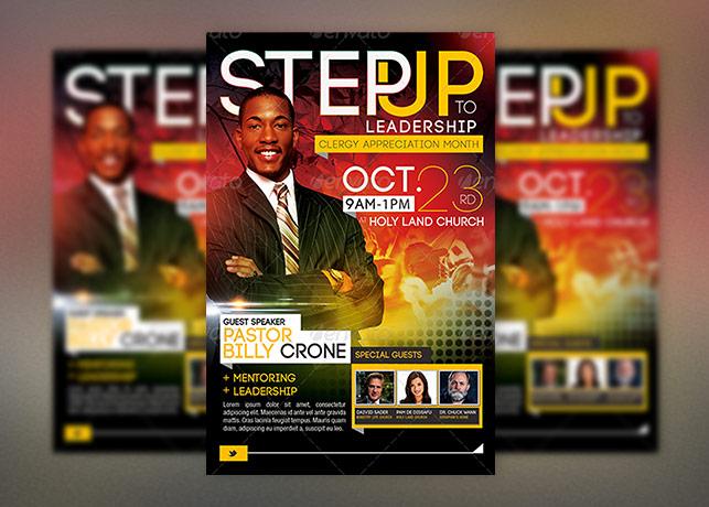Step Leadership Church Flyer Template
