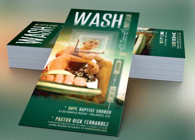 Wash Church Flyer Template