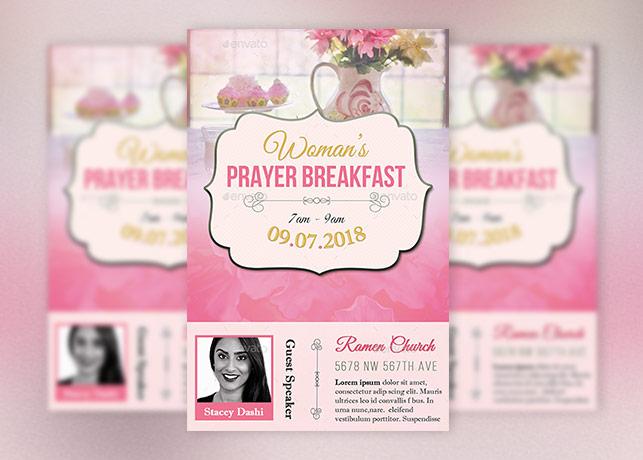 Women Prayer Breakfast Flyer Template