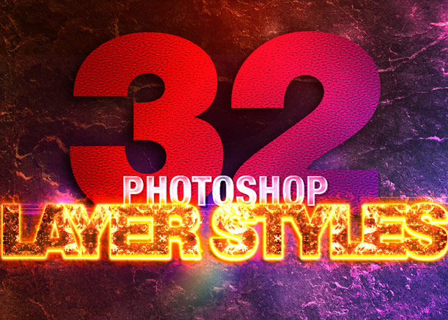 32 Photoshop Layer Styles