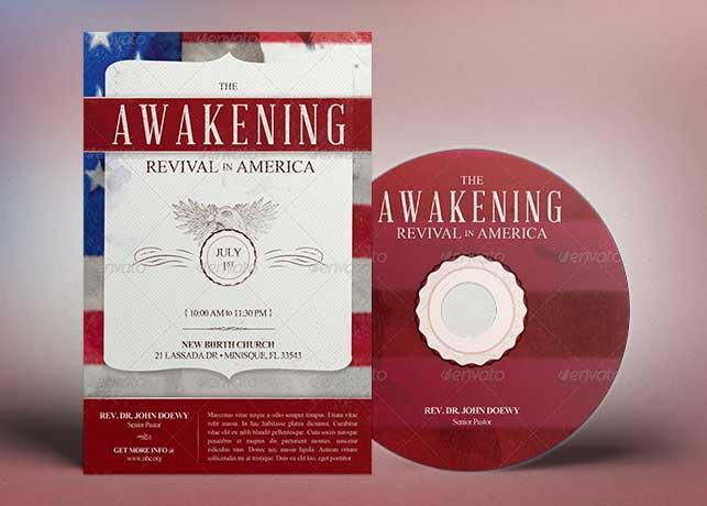 Awakening Revival Church Flyer CD Template