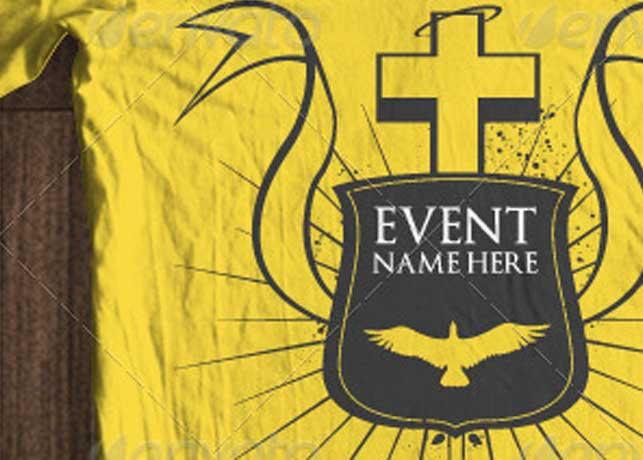 Christian Church Tshirt Template
