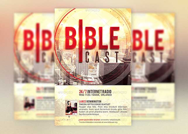Christian Radio Flyer Template