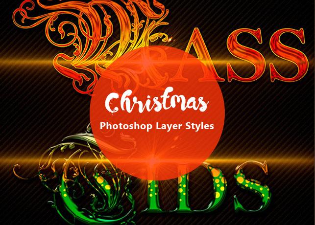 Christmas Photoshop Layer Styles
