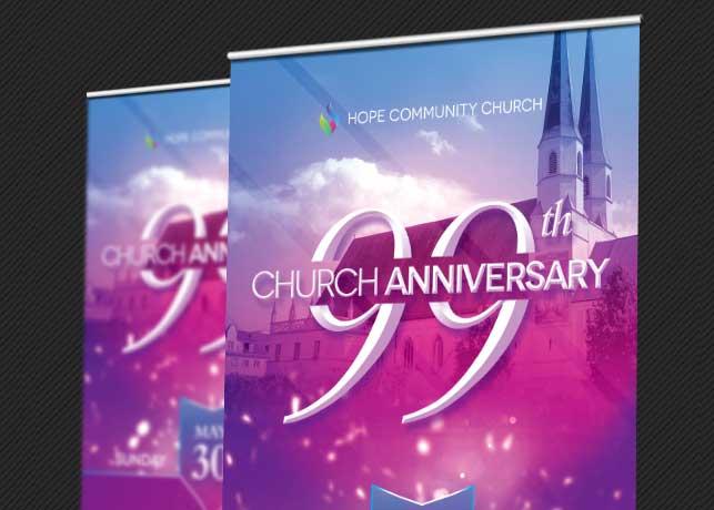 Church Celebration Banner Template