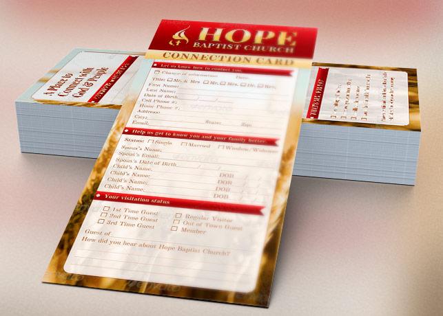 Church Connection Card Template