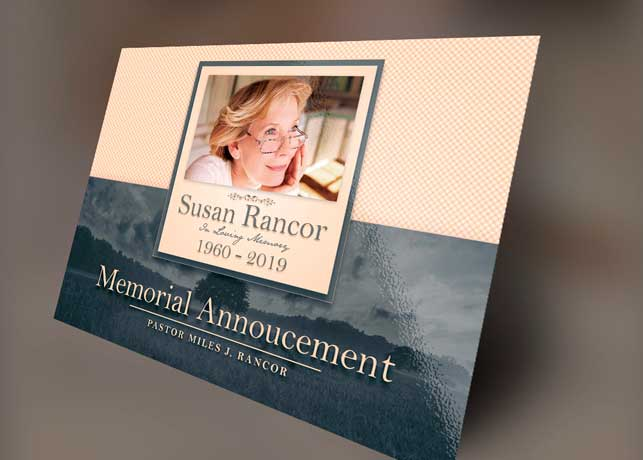 Classic Funeral Announcement Template