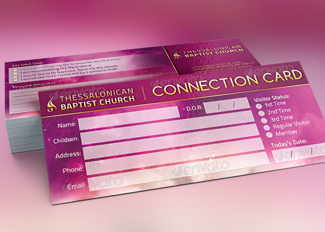 Connection Card Template for Churches