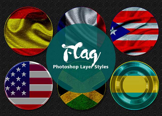 Flag Themed Photoshop Text Layer Styles