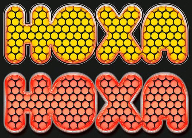 Glossy Polka Dot Photoshop Layer Styles