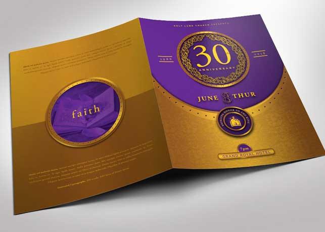 Gold Plus Violet Church Anniversary Program