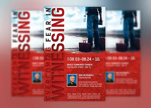 Overcoming Fear Church Flyer Template