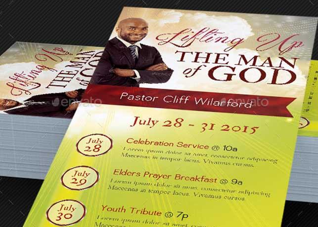 Pastor Appreciation Rack Card Template