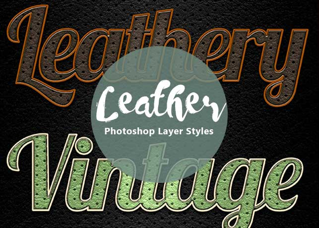 Perforated Leather Photoshop Layer Styles