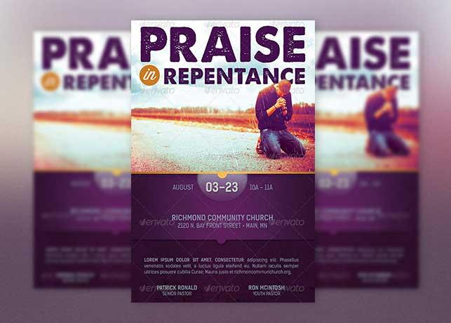 Praise Repentance Church Flyer Template