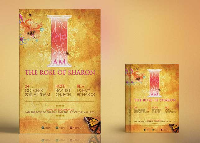 Rose of Sharon Church Flyer Poster Template