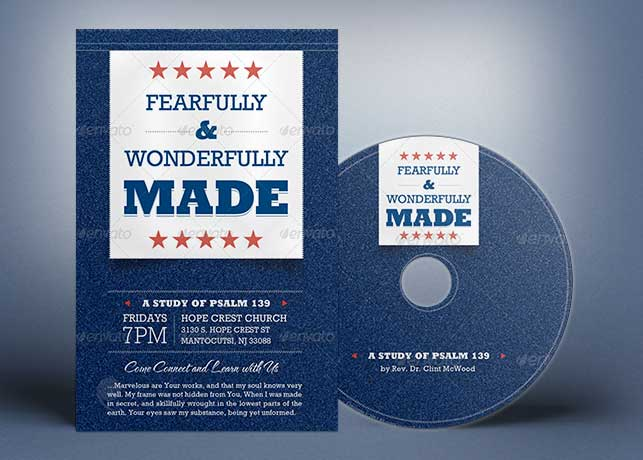 Wonderfully Made Church Flyer CD Template