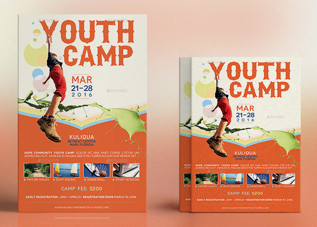 Youth Camp Flyer Poster Template Inspiks Market