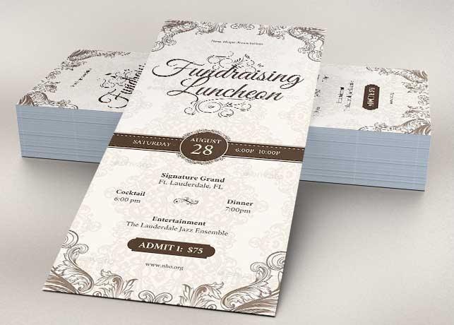 Church Luncheon Rack Card Template