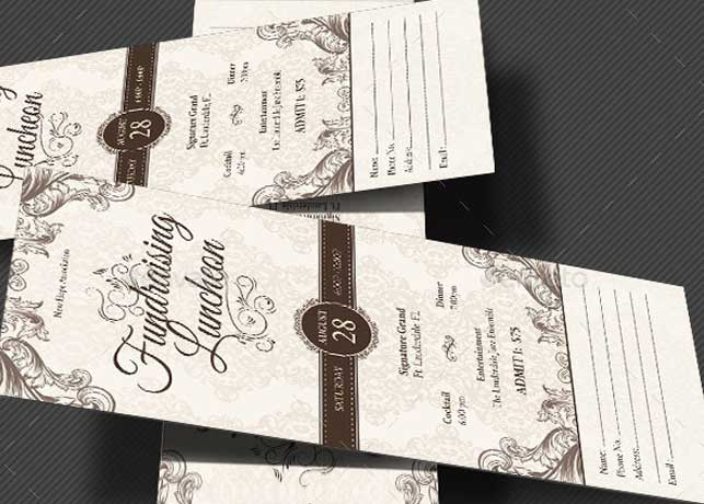 Church Luncheon Ticket Template