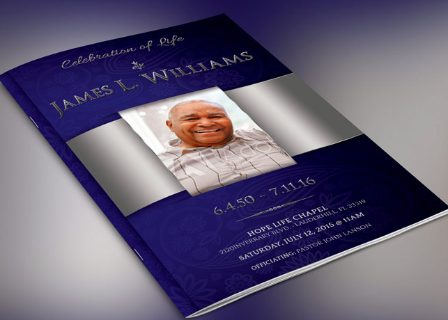 Dignity Funeral Program Photoshop Template