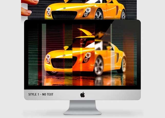 Light Effect Wallpaper Photoshop Template
