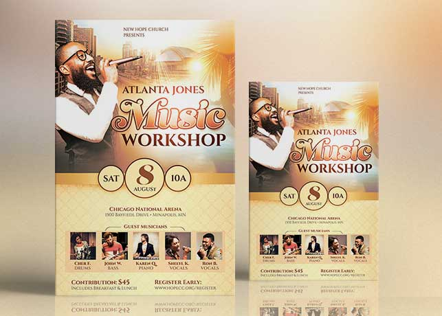 Music Workshop Flyer Poster Template