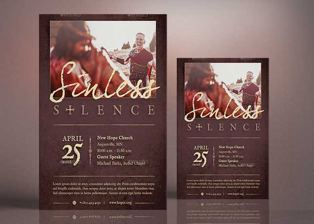 Sinless Silence Flyer Poster Template