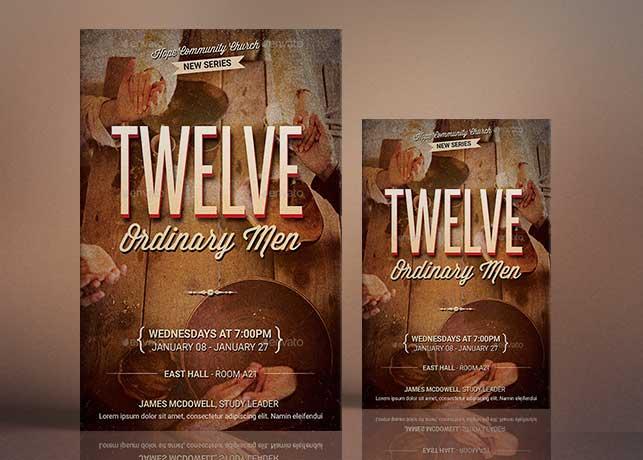 Twelve Ordinary Men Flyer Poster Template