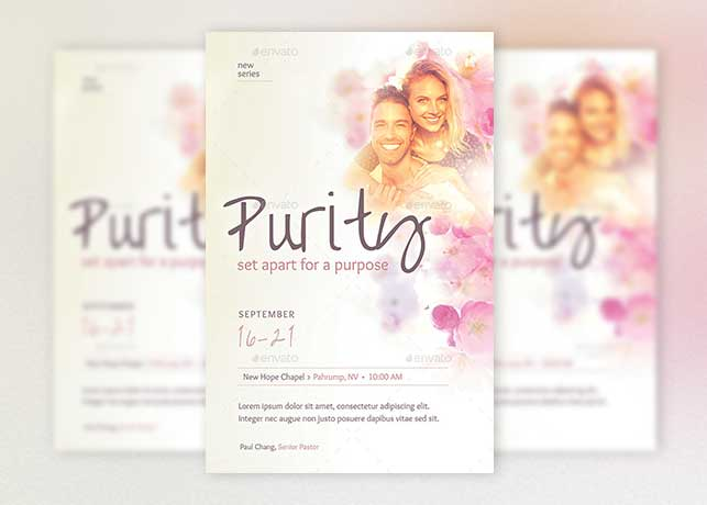 Purity Church Flyer Poster Template