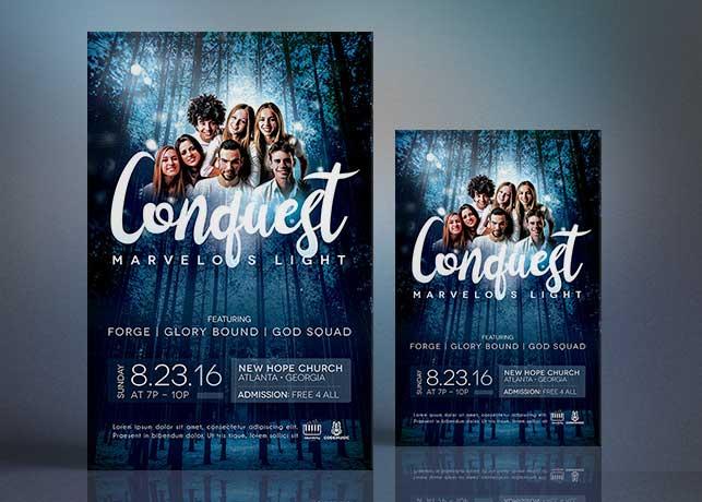 Church Concert Flyer Poster Template