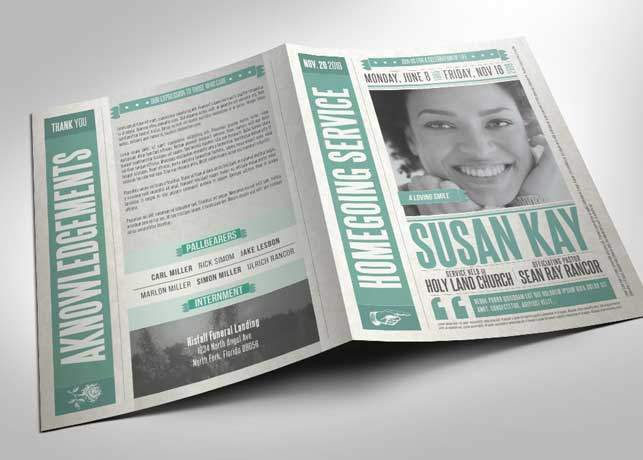 Newspaper Funeral Program