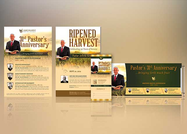 Pastor Anniversary Harvest Template Kit