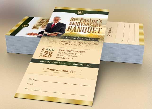 Pastor Anniversary Harvest Ticket Template