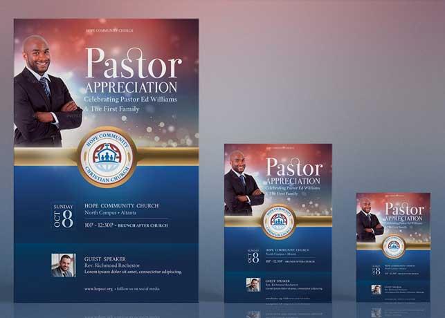 Pastor Appreciation Flyer Poster Template