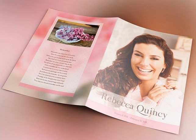 Glamour Funeral Program Template