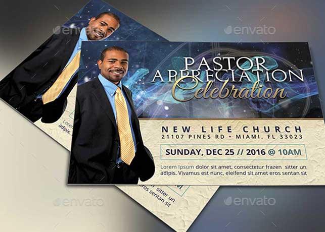 Starlight Pastor Anniversary Flyer Template Vol. 3