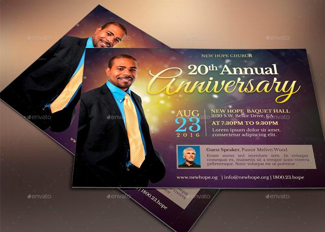 Starlight Pastor Anniversary Flyer Template