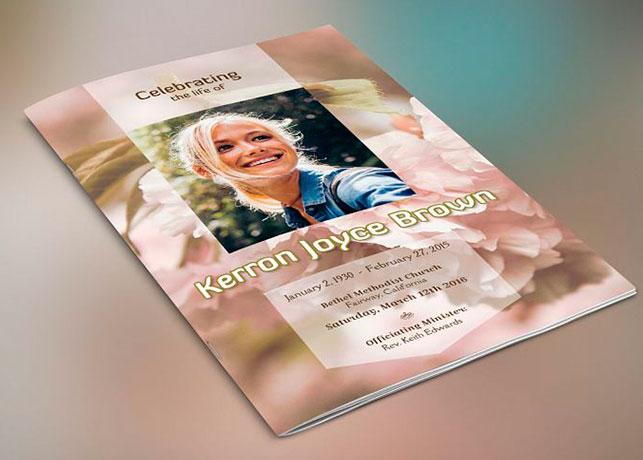 Adventure Small Funeral Program Template