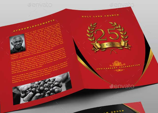 Crimson Gold plus Black Anniversary Program Template
